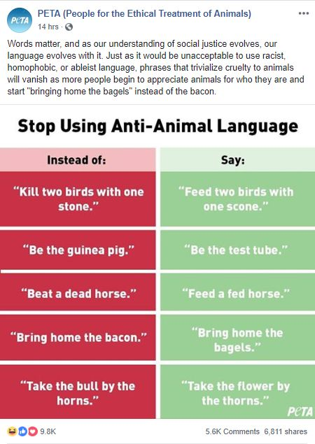Ridiculous PETA post